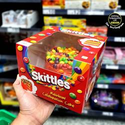 Skittles Rainbow Celebration Cake