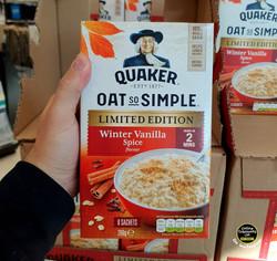 Quaker Oat so Simple Winter Vanilla Spic