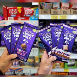 Cadbury Dairy Milk Rocky Road and Neapol
