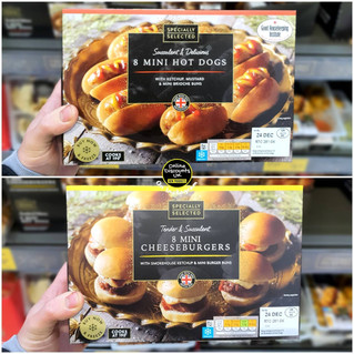 Mini Hot Dogs and Mini Cheeseburgers Ald