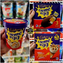 Cadbury Creme Egg Ice Cream Products