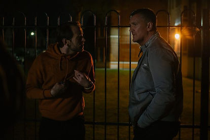 George Russo and Craig Fairbrass as Sean and Eddie Franks in Villain