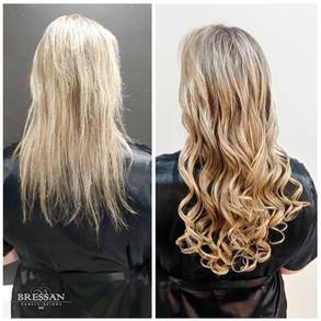 Antes e depois: Mega-hair de queratina