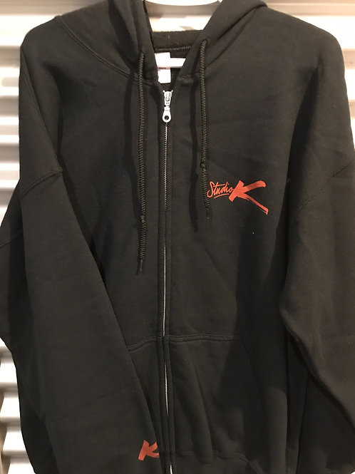 Cagoule avec zip adulte noire