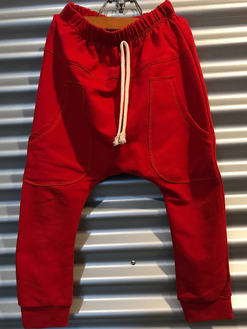 Pantalon baggy enfant rouge