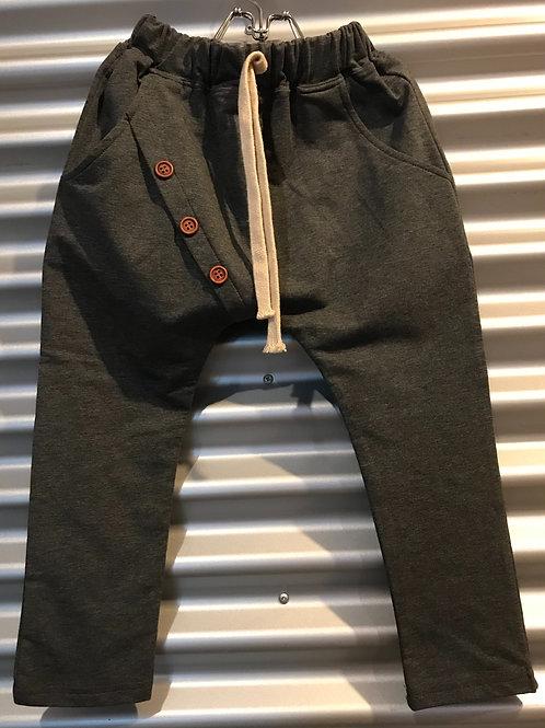 Pantalon baggy enfant gris foncé