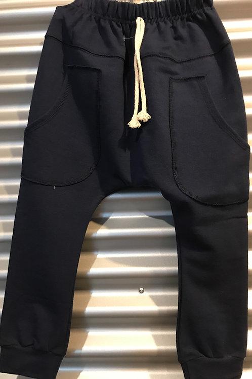 Pantalon baggy enfant bleu marin