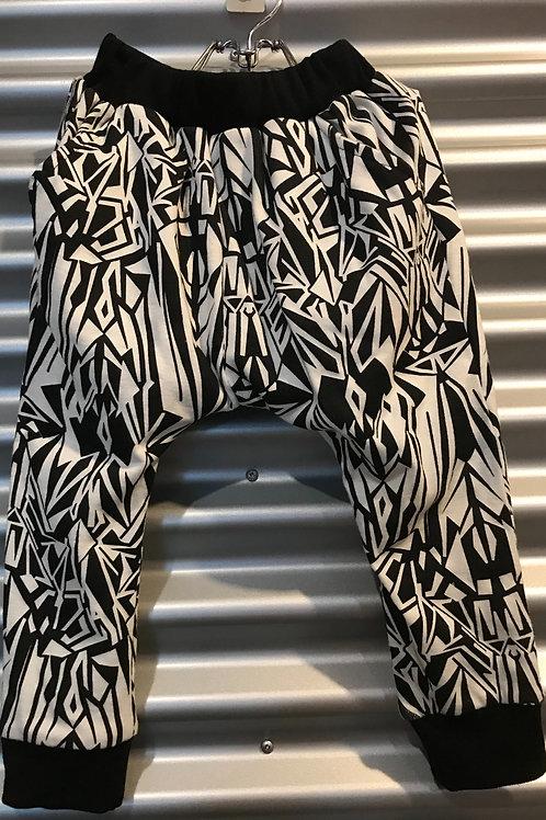 Pantalon baggy enfant zebré
