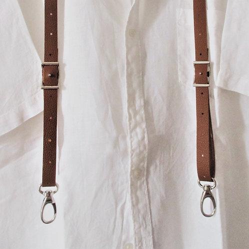 SLIM Fines bretelles cuir