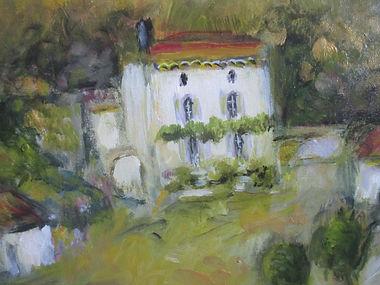 Ma Maison en Ardèche vue par le peintre Christian Charvet