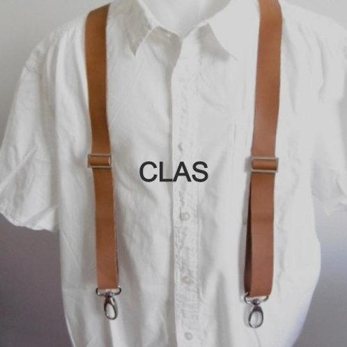 CLAS Bretelles en cuir avec mousquetons