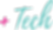 and tech logo blue with pink plus - png