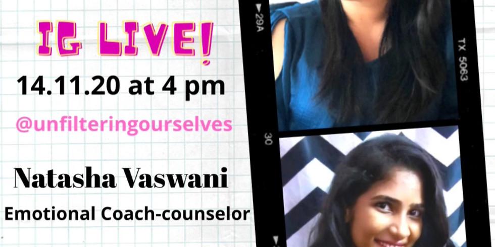 Instagram Live Event with Kavya Sampathkumar