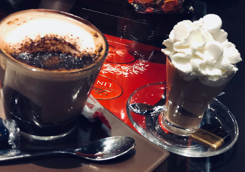 Cafe freddo at Lindt in Rome