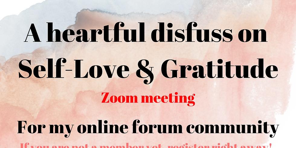 Online Discussion on Self Love & Gratitude