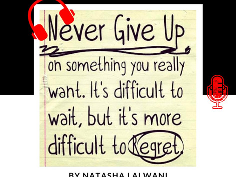 """THE ART OF """"NEVER GIVING UP!"""""""