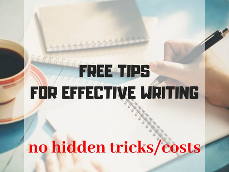 AMAZING TIPS FOR EFFECTIVE WRITING