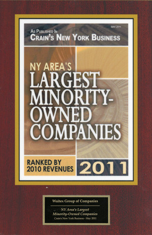 Waitex Again Listed as NY's Largest Minority Owned Company by Crain's