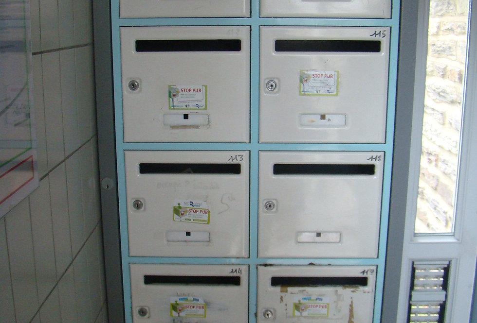 Batterie de boîtes aux lettres