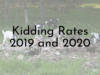 Kidding Rates - 2019 and 2020