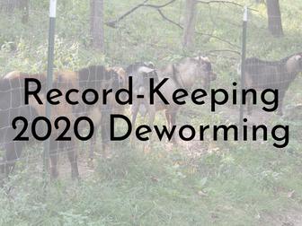 Deworming Records - 2020