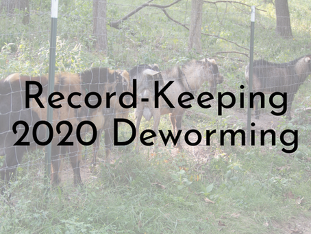 Deworming Records - 2020