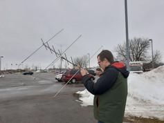 Satellite communications hunting