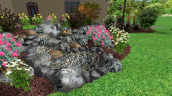 Waterfall 3D Landscape Design