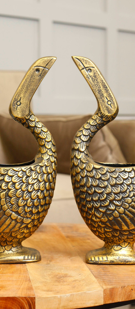 Paar swaan Flower Pot