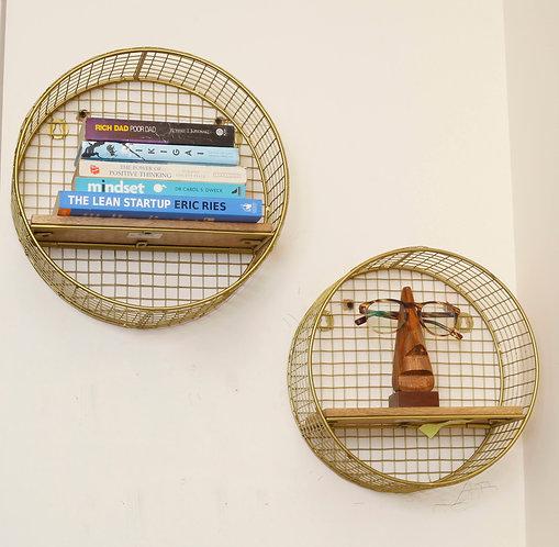 Round Wall Shelf Unit