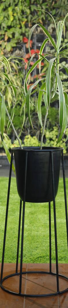 Jet Black Planter Stand