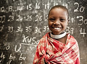 Child Learning Numbers at School