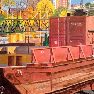 Construction Barge on the Mississippi 2