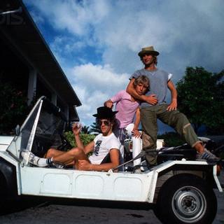 Three blokes on a Moke