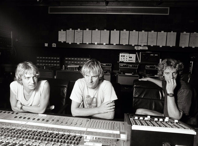 The Police on the mixing board