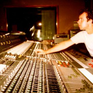 Studio engineer, Frank Oglethorpe, photo by Carrll Robilotta