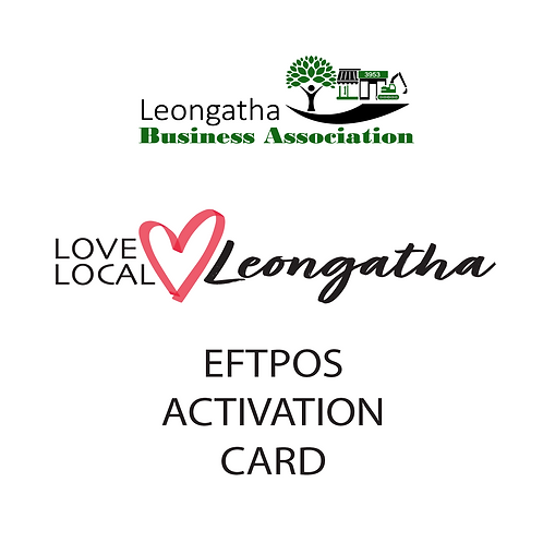 LBA Closed Loop Gift Card EFTPOS activation card