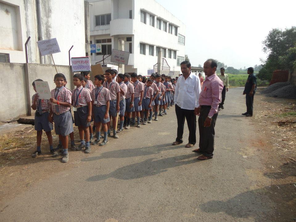 AIDS awareness rally through the village
