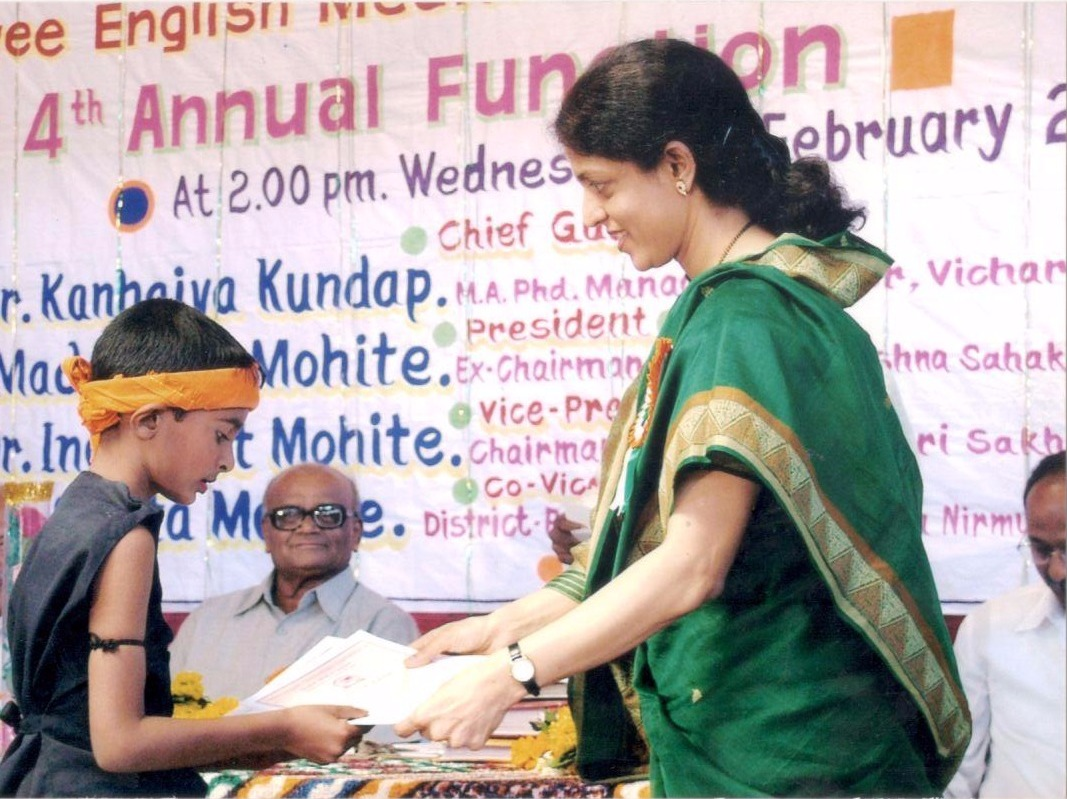Prize distribution with Dr Savita Mohite