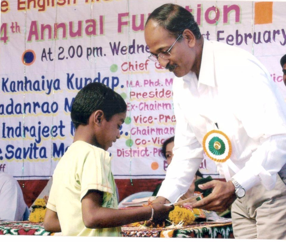 Prize Distribution with Dr Indrajit Mohite