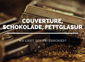 Unterschiede zwischen Schokolade, Couverture und Fettglasur