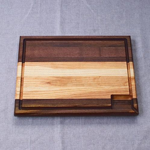 Professional Quality Walnut Edge Grain Cutting Board - Reversible