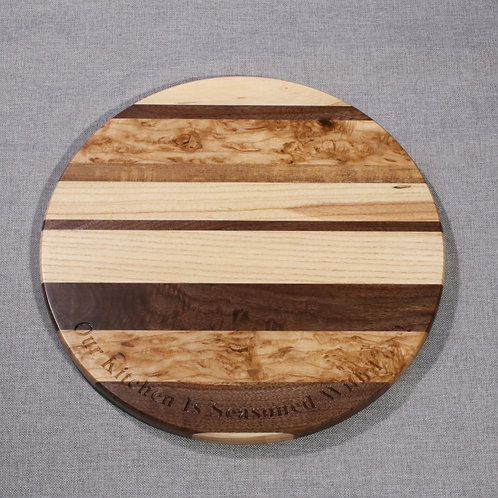 "Lazy Susan -15"" x 15"" x 3/4"" - with Curly Ash"
