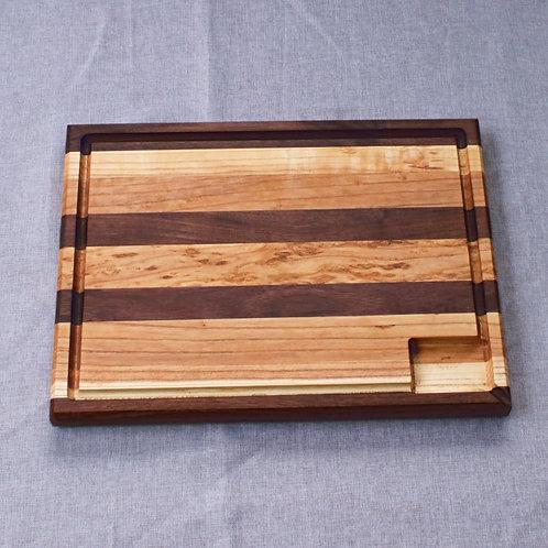 Professional Quality Walnut/Ash Edge Grain Cutting Board - Reversible