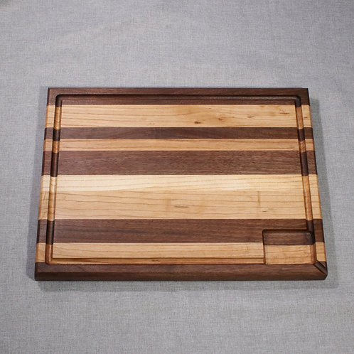 Professional Quality Walnut/Ash Edge Grain Cutting Board - Reversible