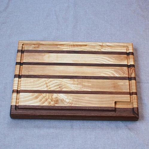 Professional Quality Walnut/Ash Edge Grain Cutting Board