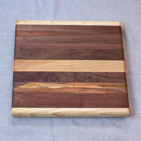 Walnut/Ash Edge Grain Cutting Board - Medium