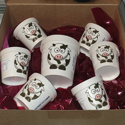 Ice Cream Gift Box (6 SMALL TUBS)