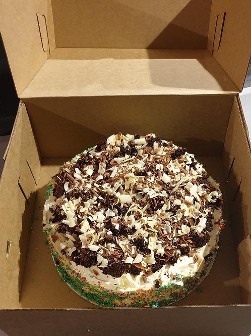 ICE CREAM CAKE ROUND (CHOC CHUNK BROWNIE)