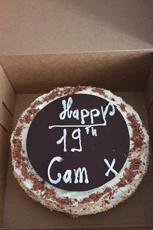ICE CREAM CAKE TOPPER / NAME PLAQUE
